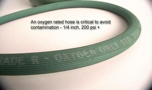Hose Rated for Oxygen Use