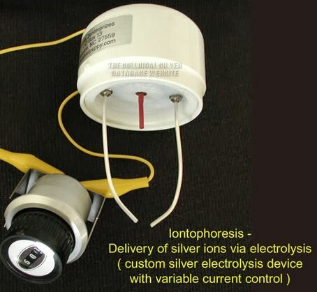 Custom modified universal silver electrolysis device with variable current control provided by www.silverpuppy.com